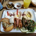 Generous and tasty Grands Mezze