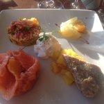 Demi homard aux agrumes et saumon