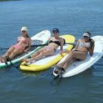 Tanning on the paddle boards
