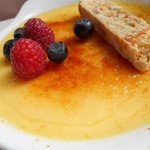 Hayfield Manor - Creme Brulee with hint of citrus was very good