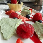 Hayfield Manor- some kind of mousse with Basil meringue was uneventful