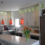 One of the new kitchens...a little bling is a good thing!