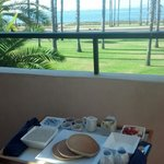 Great room service- had breakfast right on the balcony with a view!