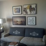 Room was clean and I loved the equestrian touches and comfortable couches!