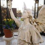 Hassinger Daniels Mansion BB Garden Angel in Gazebo