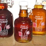 Beautiful Glass Bottles filled with our own Pure VT Maple Syrup!