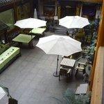 Eten onder de parasols