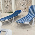 Nasty old dirty beach chairs Bellevue has. When you look at the other hotels beach chairs all yo