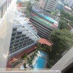 swimming pool, taken from 13th floor