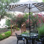 Outdoor seating and gardens