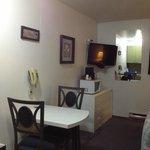 dinette set and TV