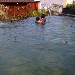 family swiming pool