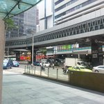 Novotel's driveway and Wisma Cosway right across the street.
