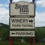 Sign at entrance to Stone Hill Winery