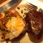 7 oz sirloin and baked potato