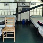 Interior of Non-Heated Tent Cabin, 1 Dbl/3 Single
