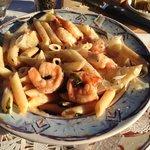 Delicious pasta and shrimp