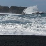 Black Sand Beach Waves/Rocks