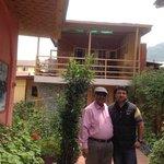 Myself with Sarawar in the main drive way