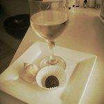 Wine and chocolate treat post-massage!