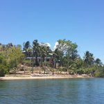 View of the island from the boat.