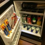 Mini bar with room for your drinks at top