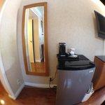 Mirror/fridge/coffee maker