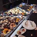 The cake selection in the main buffet restaurant(there were three tables like this)