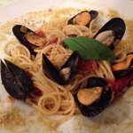 Pasta with fresh mussels