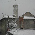 Baveno, 2006, il Centro Monumentale sotto la neve