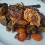 Wonderful tender meat with vegetables