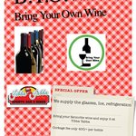 Bring Your Own Wine !!!