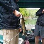 Fishing Fontana Lake from pontoon boat