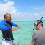 Snorkeling with Abel. Thank you, sir.