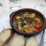 Shrimp and chorizo--delicious!