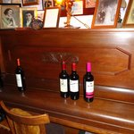 piano and our next choice of wine lined up