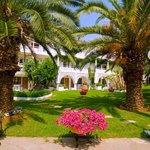 Porfi Beach garden view