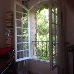 Uitzicht vanuit de slaapkamer van het appartement