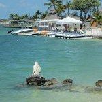 Mermaid statue on beach