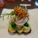 Tartine végétarienne : délicate