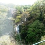 A twisting waterfall