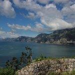 Looking West towards Positano