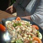 salade de poulpe excellente!!!!!