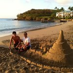 Sandcastle building at buccaneer