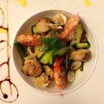 Seafood with potato