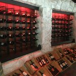 Wine racks in La Capilla.