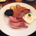 Yorkshire breakfast, just minus the mushroom and tomato as i would have wasted them