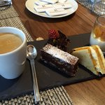 Dessert of coffee gourmand is a must try