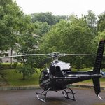 Celebrity helicopter at Ardtara