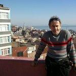 """Auf der """"Dachterasse """" das Sunlight-Hotel in Istanbul"""